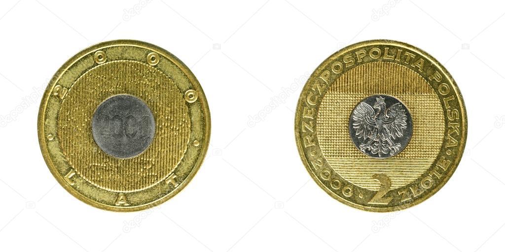 Polen Münzen Zloty Stockfoto Sementer 97687496