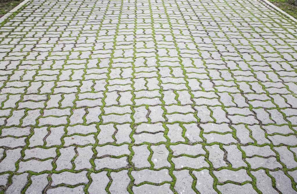 Piastrelle grigie erba u foto stock celiafoto