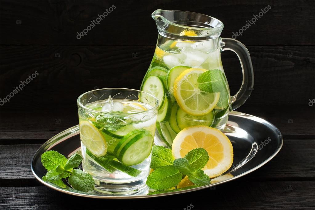 l 39 eau au citron concombre gingembre et menthe photographie 13 smile 103322328. Black Bedroom Furniture Sets. Home Design Ideas