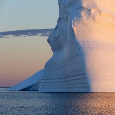 Huge icebergs of Polar regions.