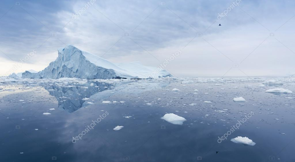 Glaciers and icebergs of Antarctica