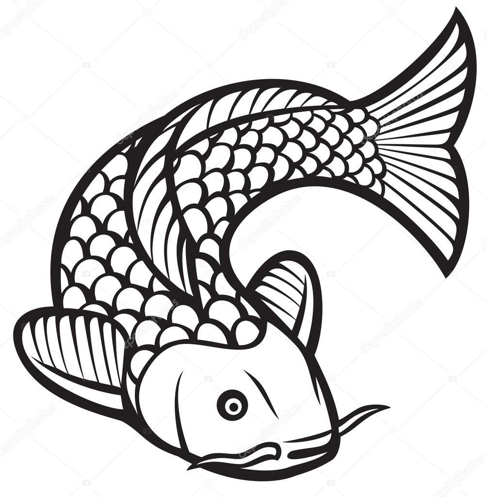 koi fish icon stock vector tribaliumivanka 107878870 rh depositphotos com koi fish vector free download japanese koi fish vector free
