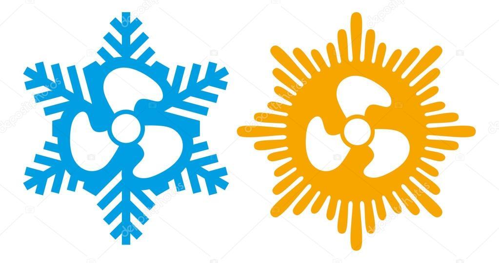 Klimaanlage-Symbole — Stockvektor © Tribaliumivanka #55589433