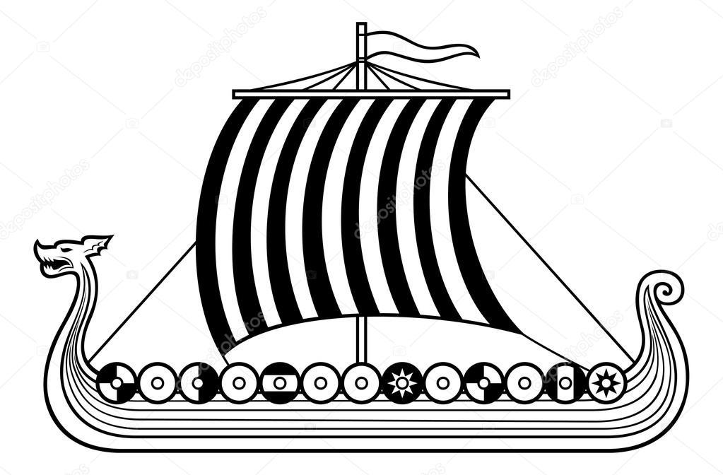Wikingerschiff Zeichnung