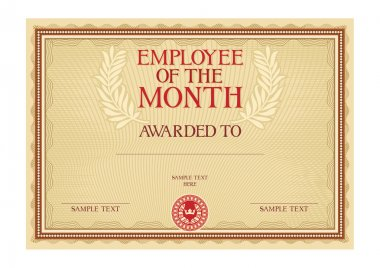 employee of the month - certificate