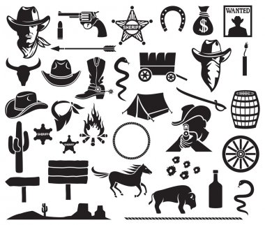 Wild West and Cowboys icons