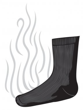 smelly sock with a bad smell