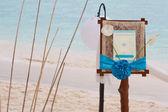 Fotografie Svatební oznámení na tropické moře a pláže zázemí