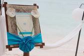 Svatební oznámení na tropické moře a pláže zázemí