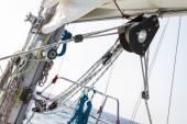 Fényképek csörlő tengeri hajó fedélzetén kötelet