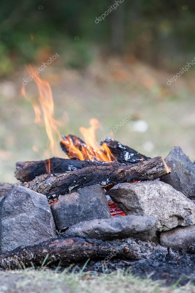 bonfire on natural background