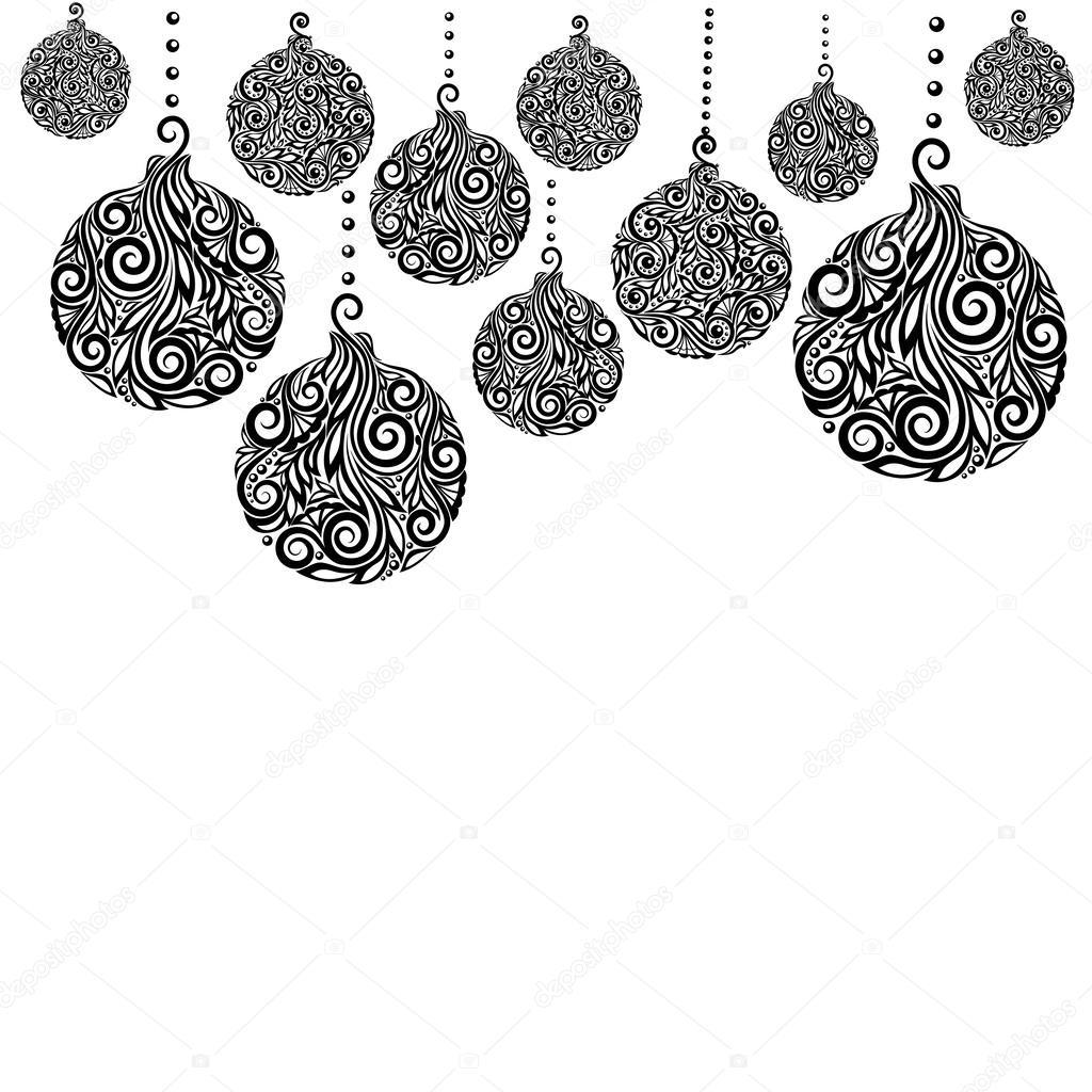 Weihnachten Schwarz Weiß Bilder.Schöne Monochrome Schwarzweiß Weihnachten Hintergrund Mit
