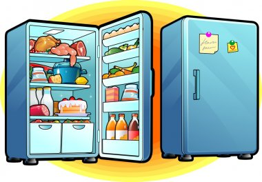 Refrigerator with Full Of Food