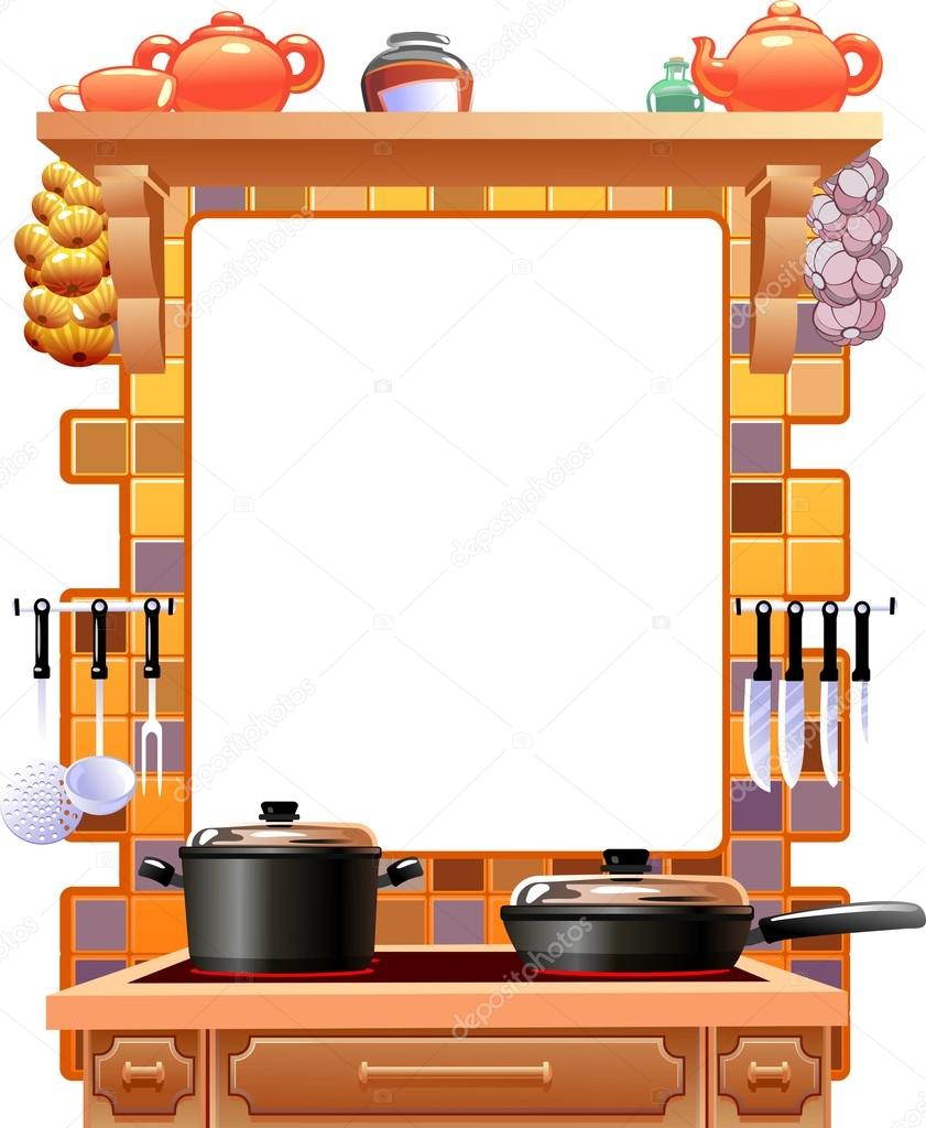 Kitchen Pictures Frames: Ilustração De Quadro Cozinha
