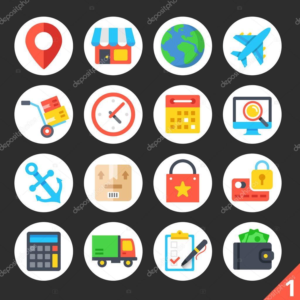 Delivery shipping ecommerce logistics round flat icons set 1 premium quality design illustrations delivery shipping ecommerce logistics concepts modern vector icons set 1 vector by magurok5 altavistaventures Images