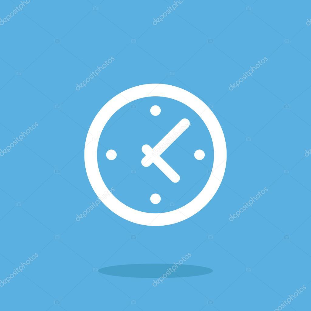Vecteur horloge ic ne temps ic ne d horloge blanche design plat image vectorielle magurok5 for Horloge blanche design