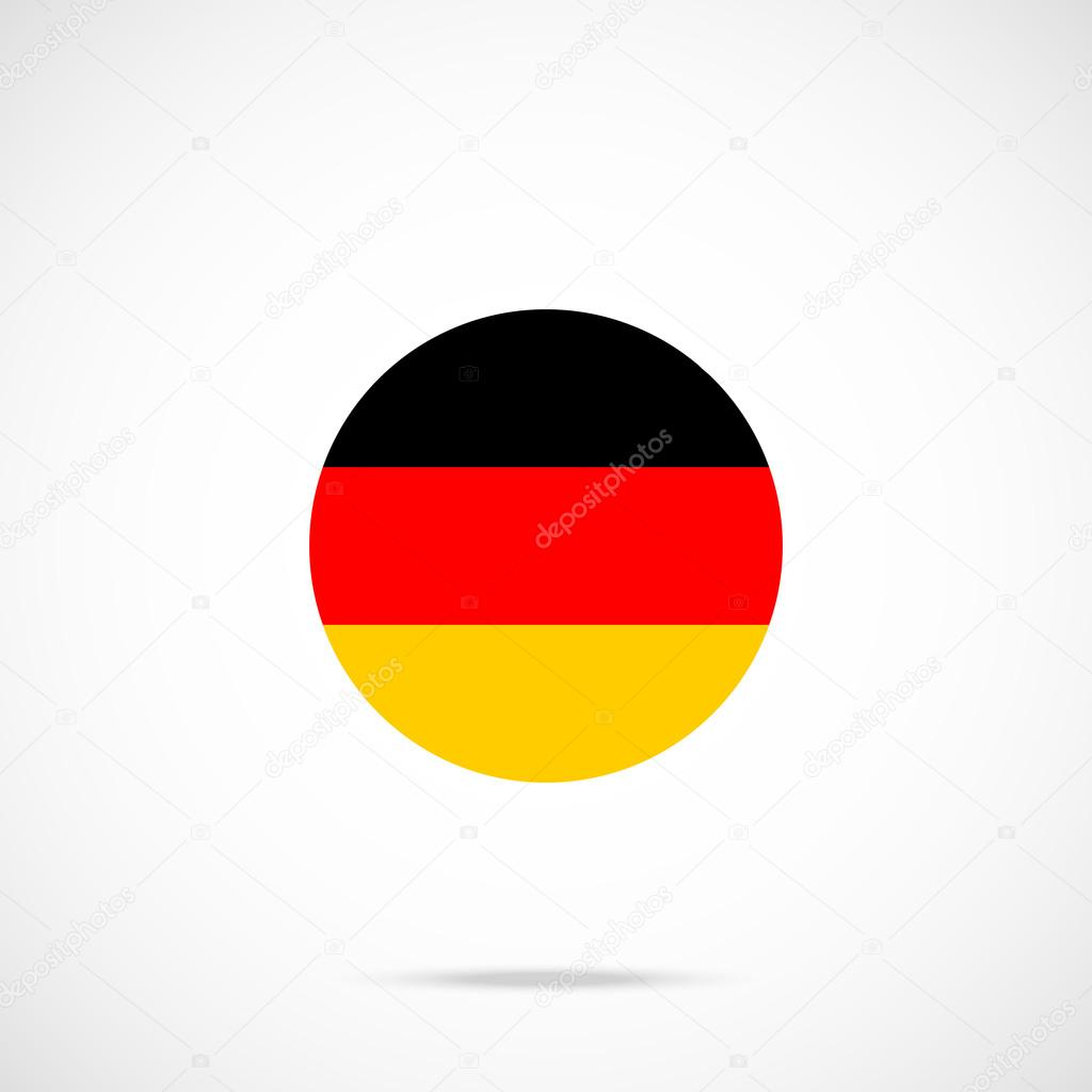 Germany flag round icon  German flag icon with accurate official