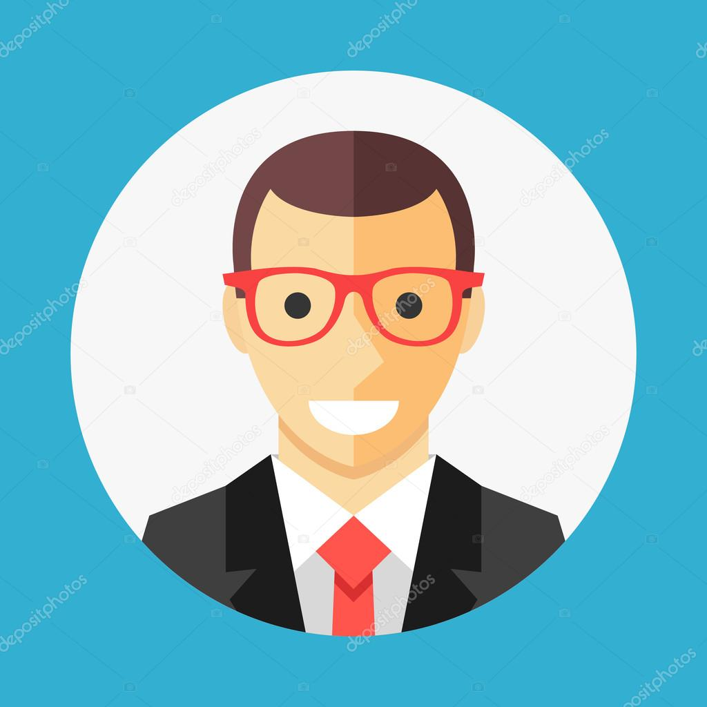 Vector Businessman Profile Icon, Man Avatar Picture In