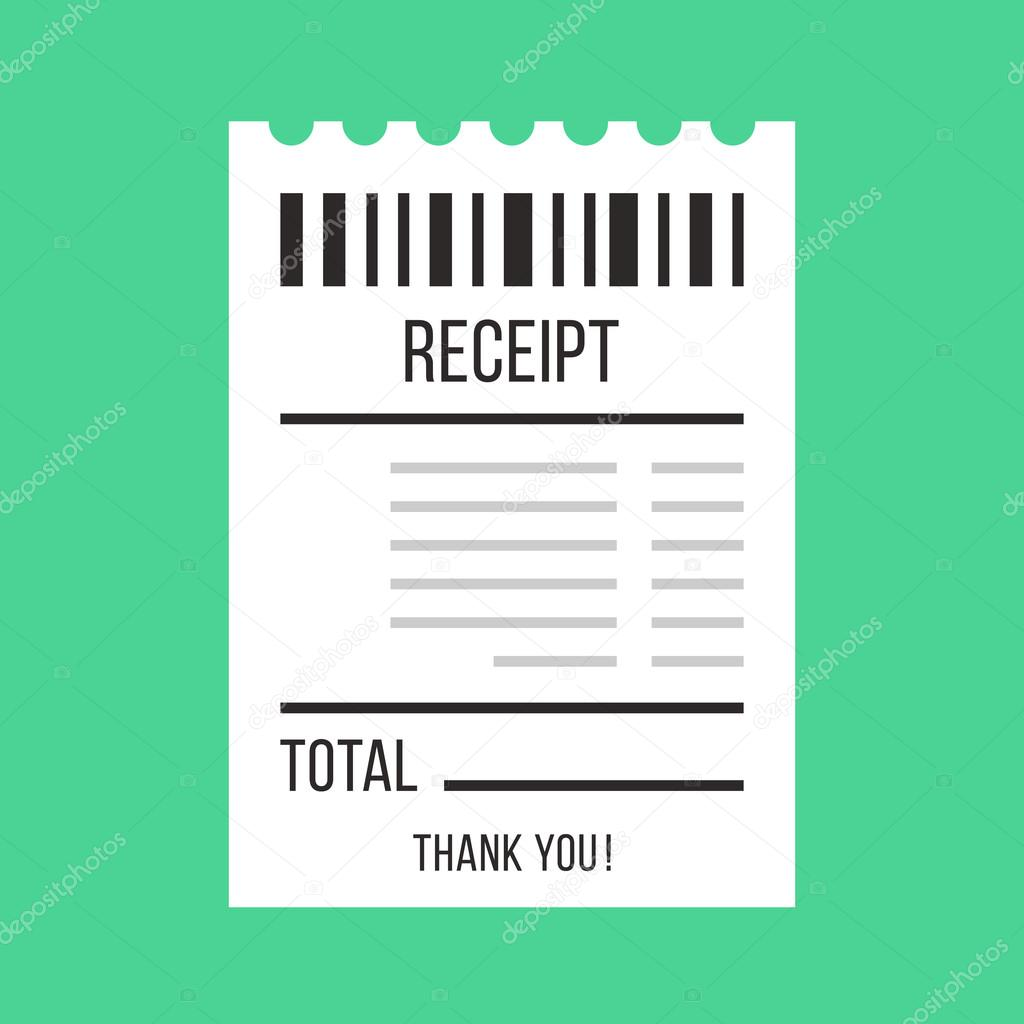 vector sales receipt paper atm bill cafe or restaurant cheque