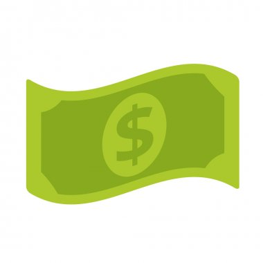 Vector Dollar Bill Flat Icon
