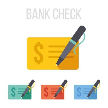 Vector bank check icons