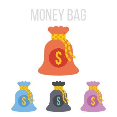 Vector money bag icons