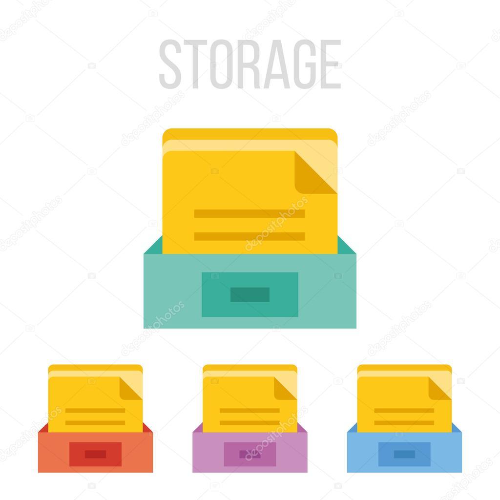 vector file storage icons — stock vector © magurok5 #65139777