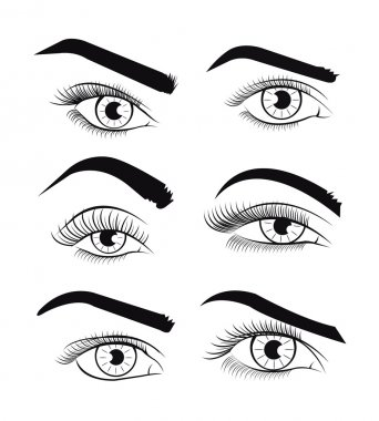 Vector template eyes. Vector illustration