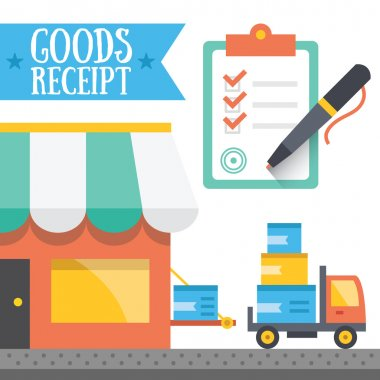 Goods receipt concept. Vector illustration