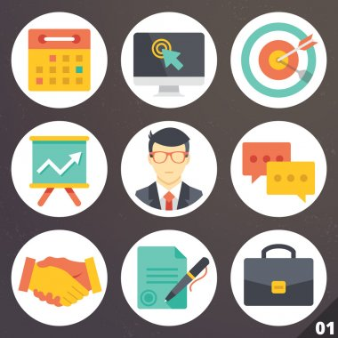 Colorful vector icons for web and mobile applications. Set 1