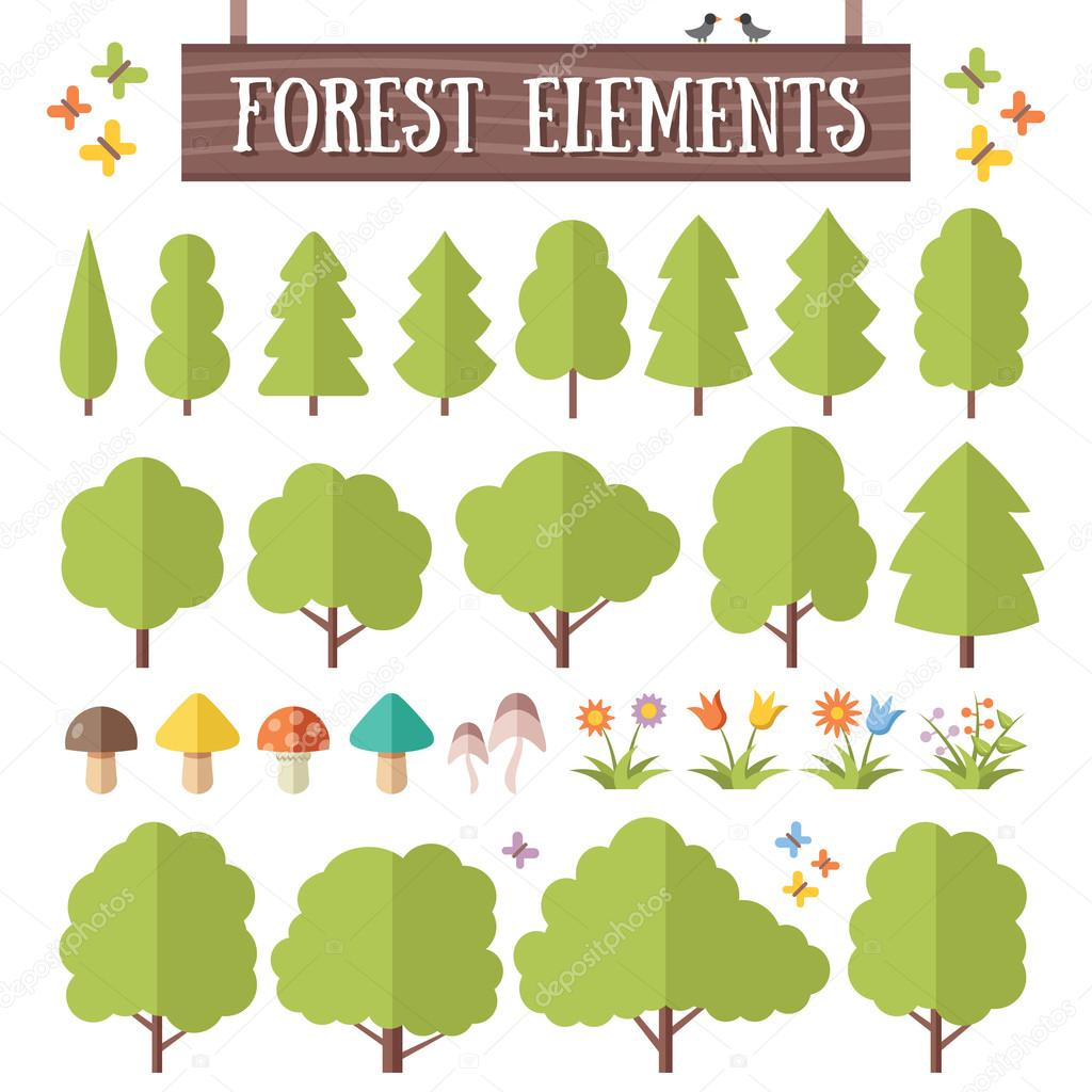 Flat forest elements set