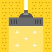 Vakuumteppich. Reinigungskonzept. moderne flache Designvektorillustration