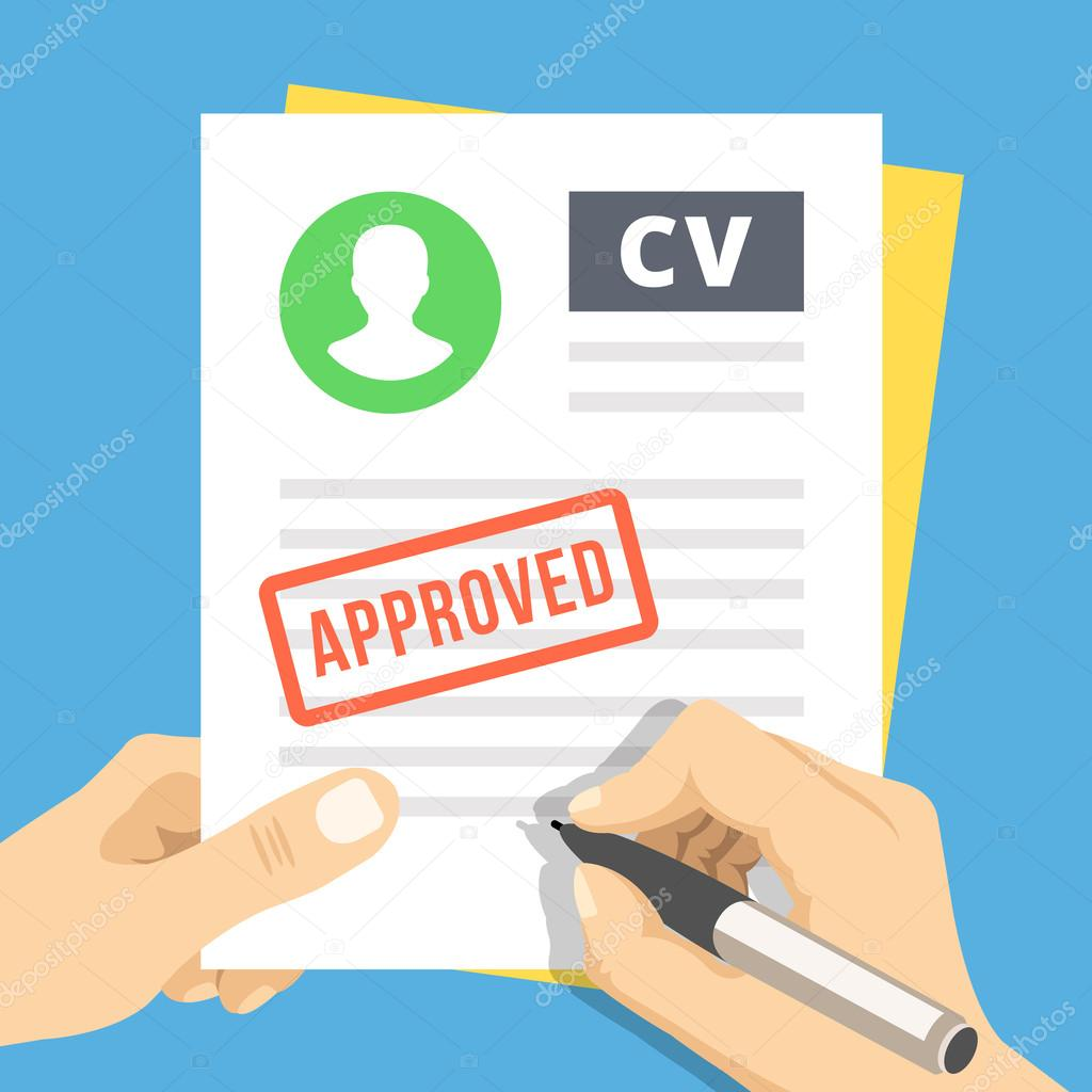 cv approuv u00e9  main avec stylo signer une demande d u0026 39 emploi