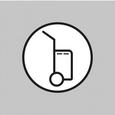 Vector icon shows the presence of porters.Vector icon baggage on white isolated background. Eps 10 icon