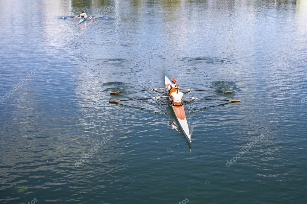 Two Women Rower in a boat