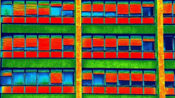 A lakóépület infravörös termovíziós felvétel
