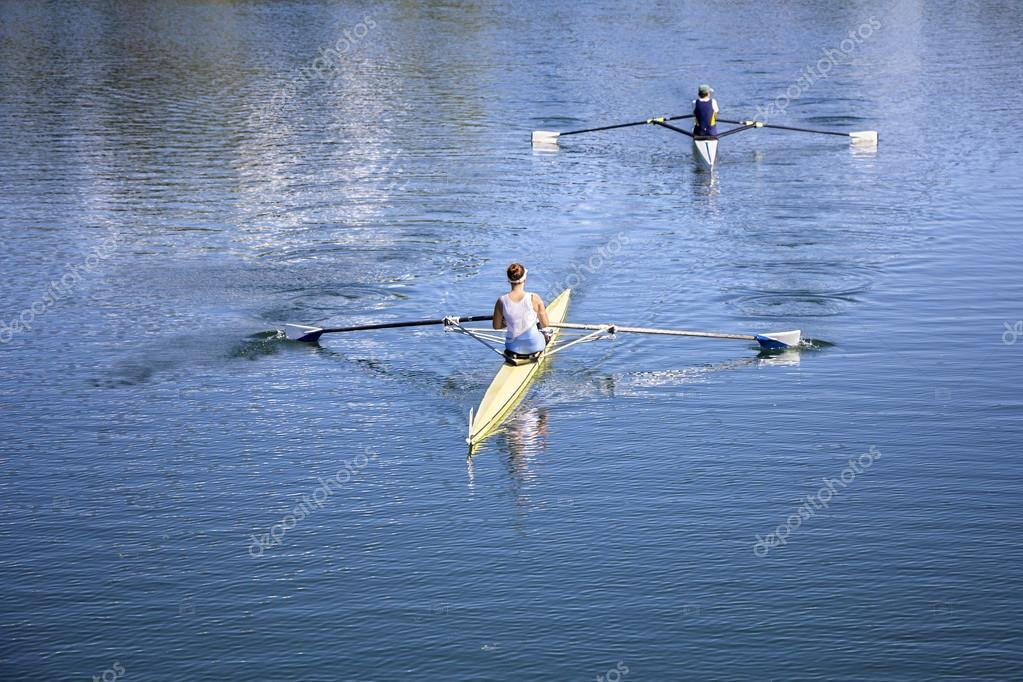 Two Young girls rowers