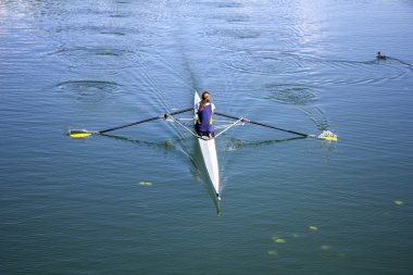 Young girl rower
