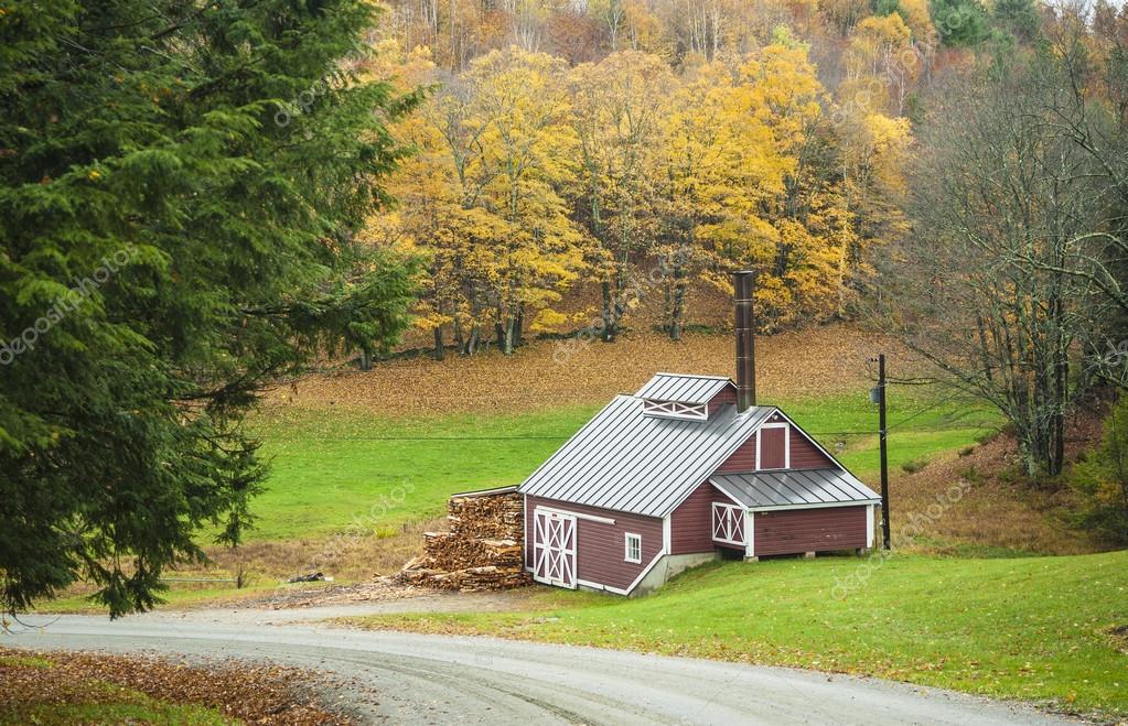Maple sugar house, Reading, Vermont, USA — Stock Photo