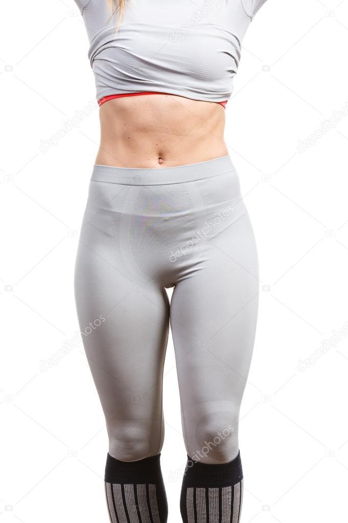 Teil-Körper-Bild mit Unterwäsche — Stockfoto © Voyagerix #121446764