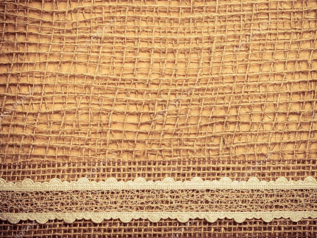 Marco de encaje de tela de arpillera — Foto de stock © Voyagerix ...