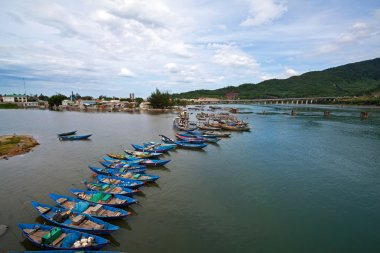 The boats on the river, sea, lake