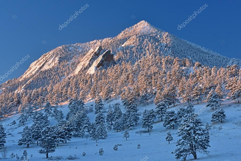Bear Peak Snow Flocked