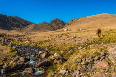 Tien Shan Mountains, Yurt at the silk road