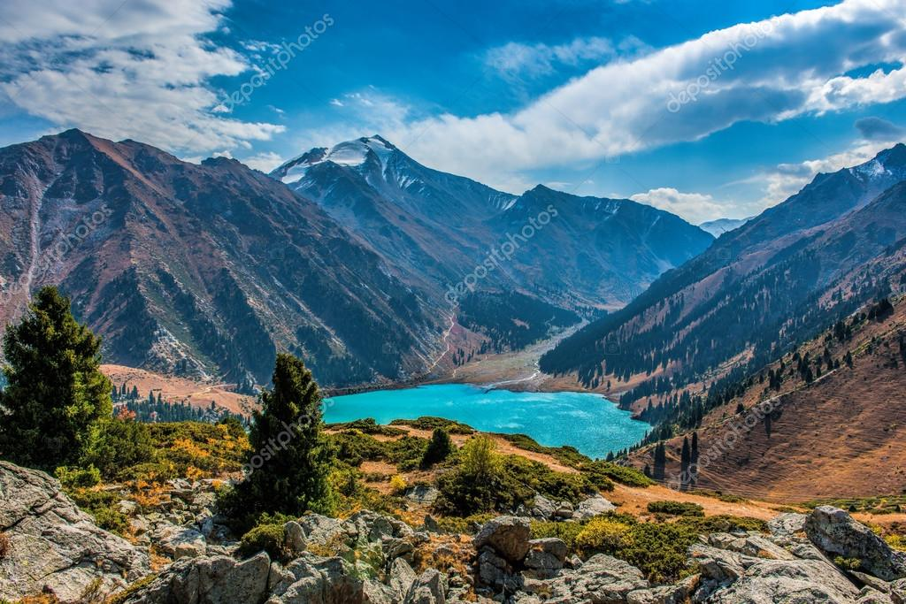 Big Almaty Lake in Kazakhstan