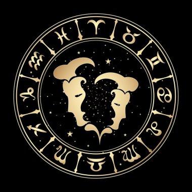 zodiac signs, vector illustration.