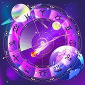 Die Tierkreiszeichen, Sternzeichen Kreis im Raum