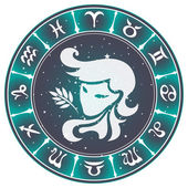Fotografie Virgo zodiac sign , vector illustration