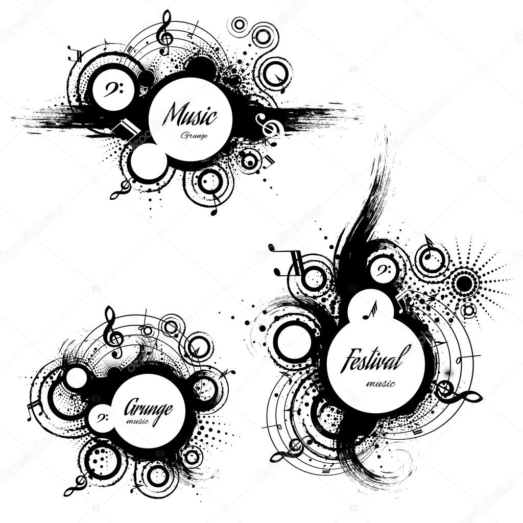 set of musical the grunge blots