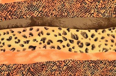 Brown leopard fur and snake skin pattern in stripes.